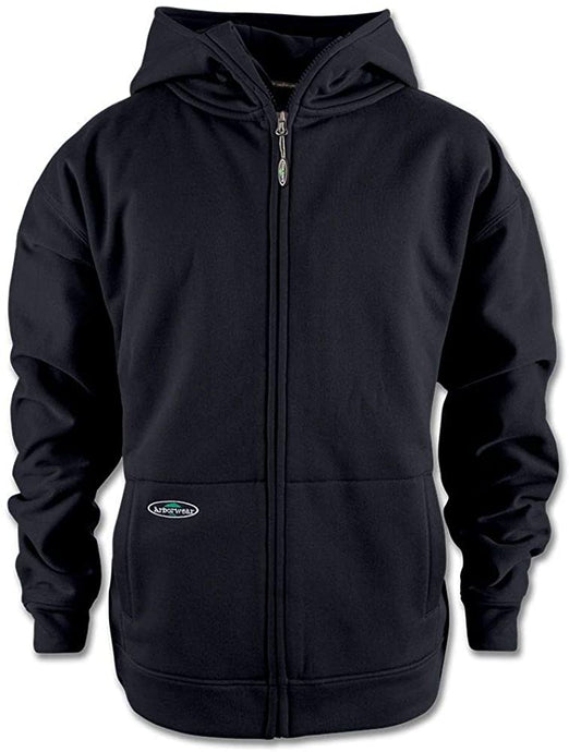 Arborwear Men's Tech Double Thick Full Zip Sweatshirt in Black from the from