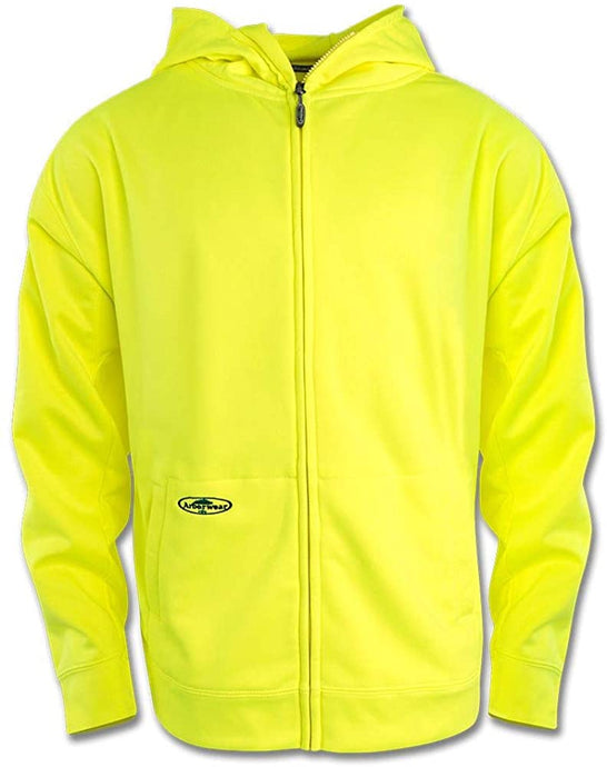 Men's Arborwear Tech Single Thick Full Zip Sweatshirt Safety in Yellow