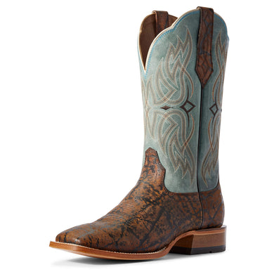 Men's Ariat Bobtail Western Boot in Bronze Elephant Print