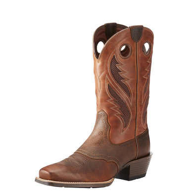 Men's Ariat VentTEK Ultra Narrow Square Toe Western Boot in Brown Oiled Rowdy
