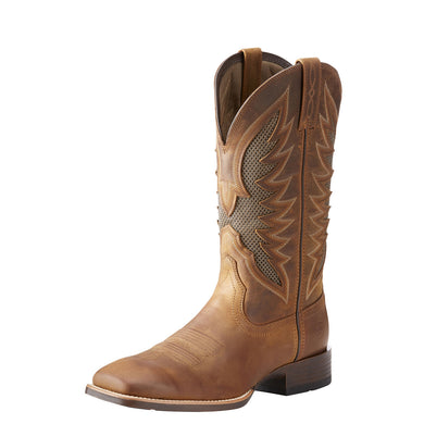 Men's Ariat VentTEK Ultra Western Boot in Distressed Brown