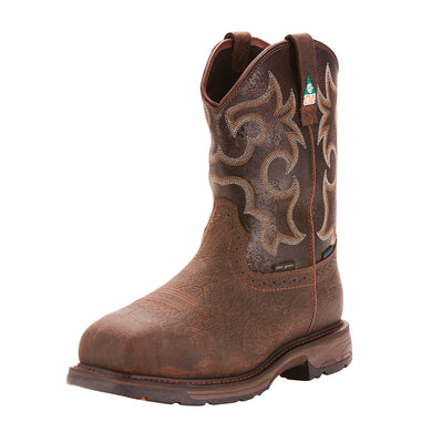 Men's Ariat WorkHog CSA Waterproof 600g Composite Toe Work Boot in Bruin Brown