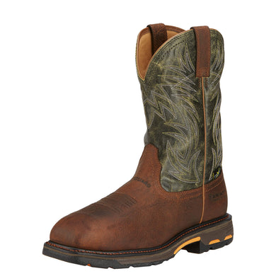 Men's Ariat WorkHog Wide Square Toe MetGuard Composite Toe Work Boot in Ridge Brown