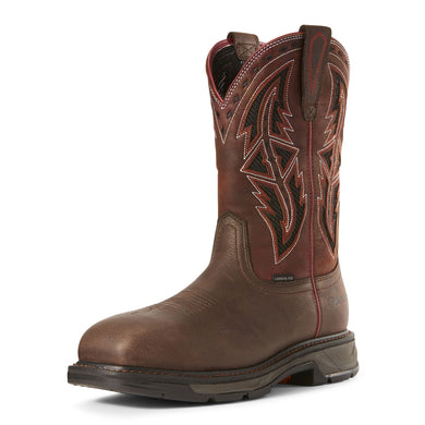Men's Ariat WorkHog XT VentTEK Spear Carbon Toe Work Boot in Dark Chocolate