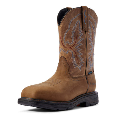 Men's Ariat WorkHog XT Waterproof Work Boot in Distressed Brown
