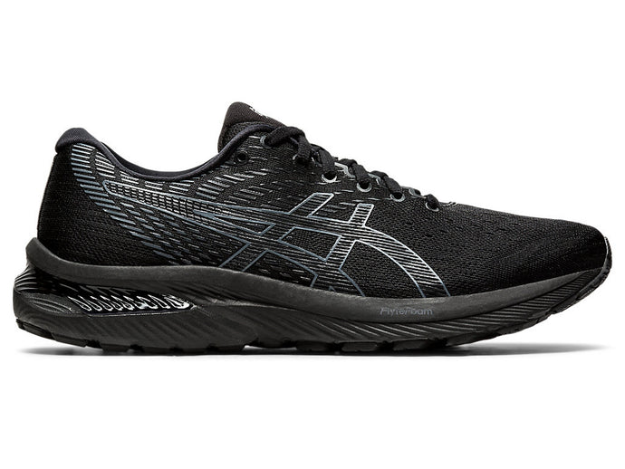 Men's Asics GEL-Cumulus 22 Running Shoe in Black/Carrier Grey from the side