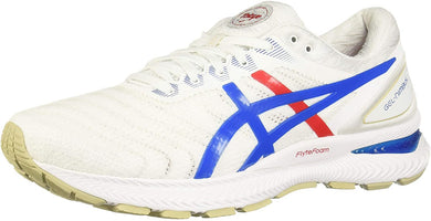 Men's Asics Gel Nimbus 22 Retro Tokyo Running Shoe In White Electric Blue