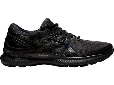 Men's Asics GEL-Nimbus 22 Running Shoe in Black/Black from the side