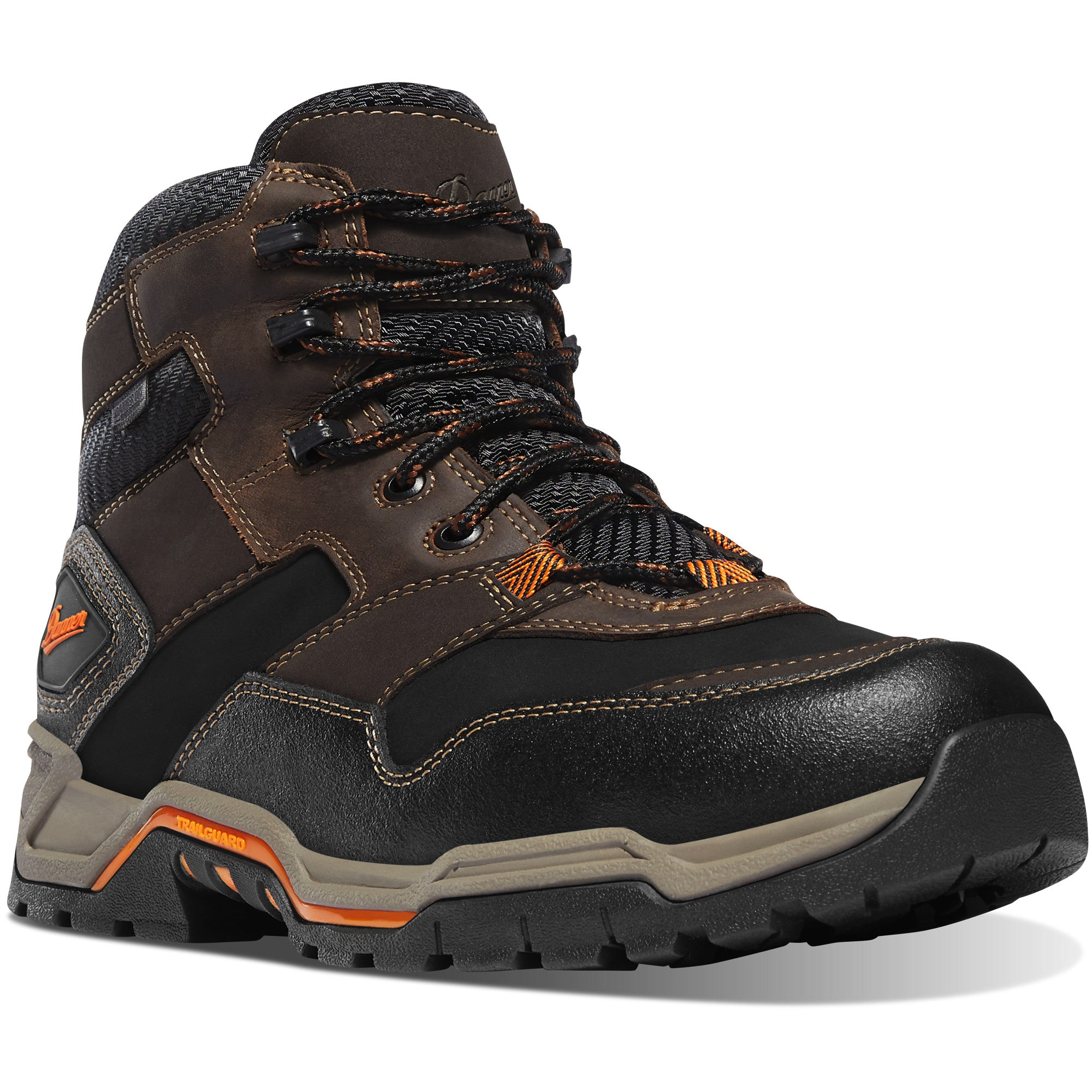 "Danner Men's Field Ranger 6"" Waterproof Work Boot in Brown from the side"
