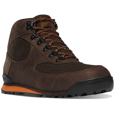 Danner Men's Jag Wool Waterproof Lifestyle Boot in Dark Earth from the side