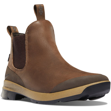 Danner Men's Pub Garden Chelsea Waterproof Lifestyle Boot in Chocolate from the side