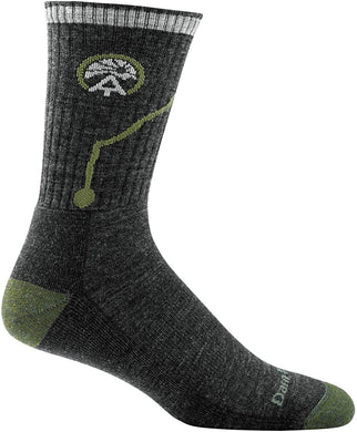 Men's Darn Tough ATC Micro Crew Midweight with Cushion Sock in Charcoal