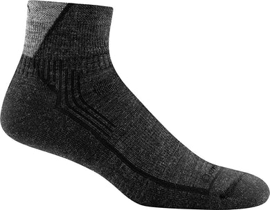 Men's Darn Tough Hiker 1/4 Midweight with Cushion Sock in Black