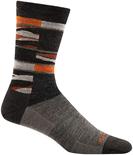 Men's Darn Tough Icefields Crew Lightweight Sock in Brown