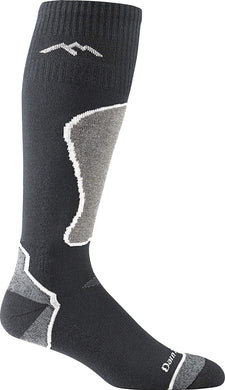Men's Darn Tough Snow Thermolite OTC Midweight with Cushion Sock in Black/Gray/Polar