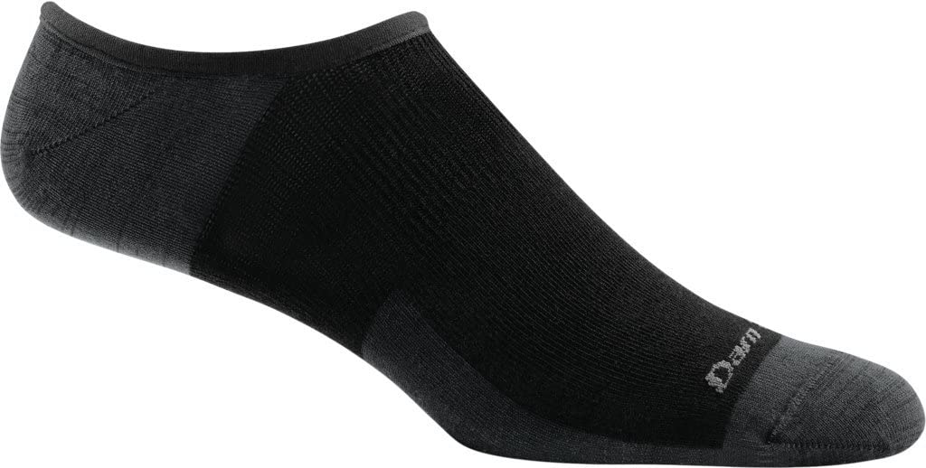 Men's Darn Tough Topless Solid No Show Hidden Lightweight Sock in Black