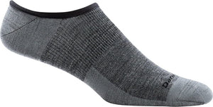 Men's Darn Tough Topless Solid No Show Hidden Lightweight Sock in Gray