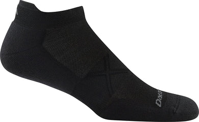 Men's Darn Tough Vertex Coolmax No Show Tab Ultra-Lightweight with Cushion Sock in Black