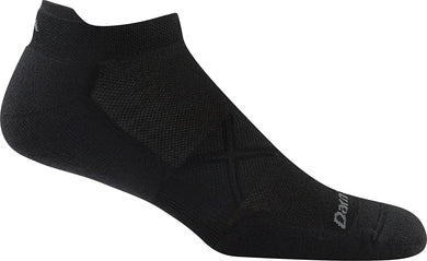 Men's Darn Tough Vertex No Show Tab Ultra-Lightweight with Cushion Sock in Black