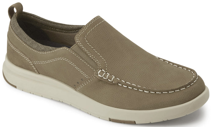 Men's-Dockers-Collins-Leather-Casual-Loafer-Shoe in Taupe from the side