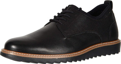 Men's Dockers Elon Leather Smart Series Dress Casual Oxford Shoe in Black from the side