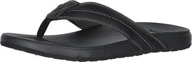 Men's Dockers Freddy Casual Flip-Flop Sandal Shoe in Black from the side