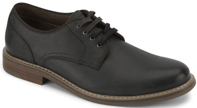 Men's-Dockers-Martin-Leather-Dress-Casual-Oxford-Shoe in Black from the side
