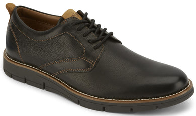 Men's-Dockers-Nathan-Leather-Dress-Casual-Oxford-Shoe in Black from the side