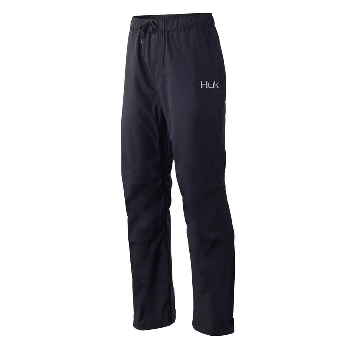 Men's Huk Gunwale Rain Pant in Black view from the front