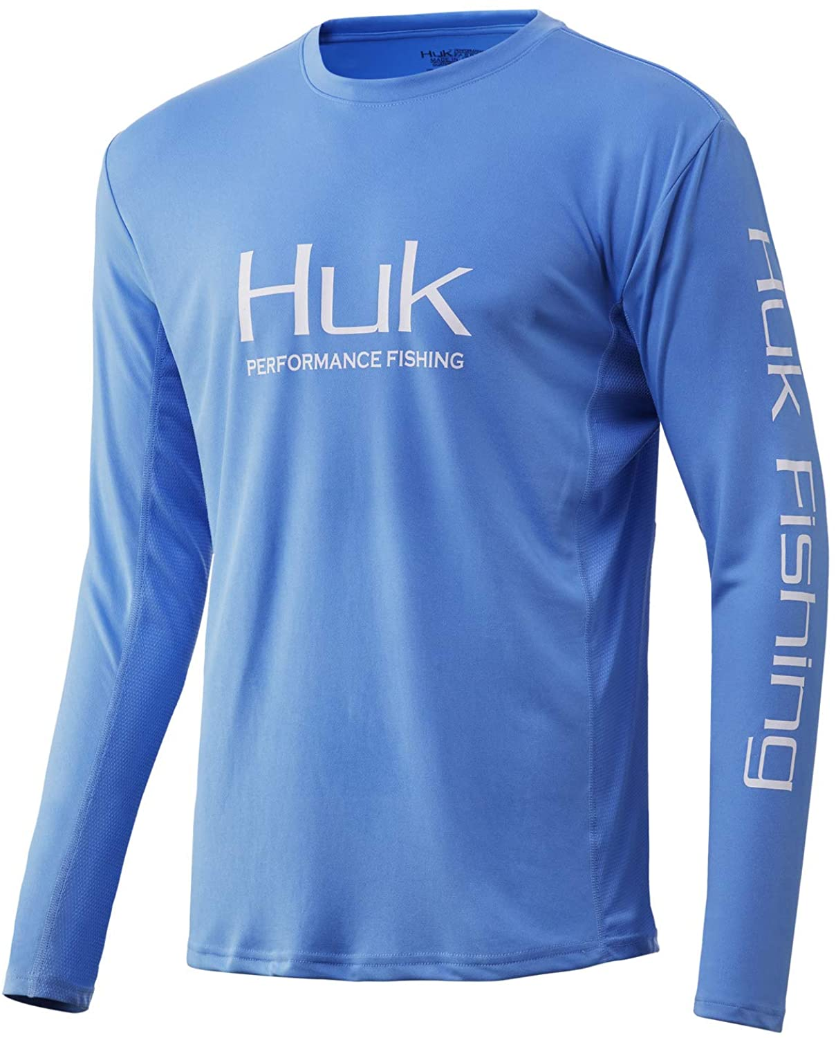 Men's Huk Icon X Long Sleeve Shirt in Carolina Blue from the front