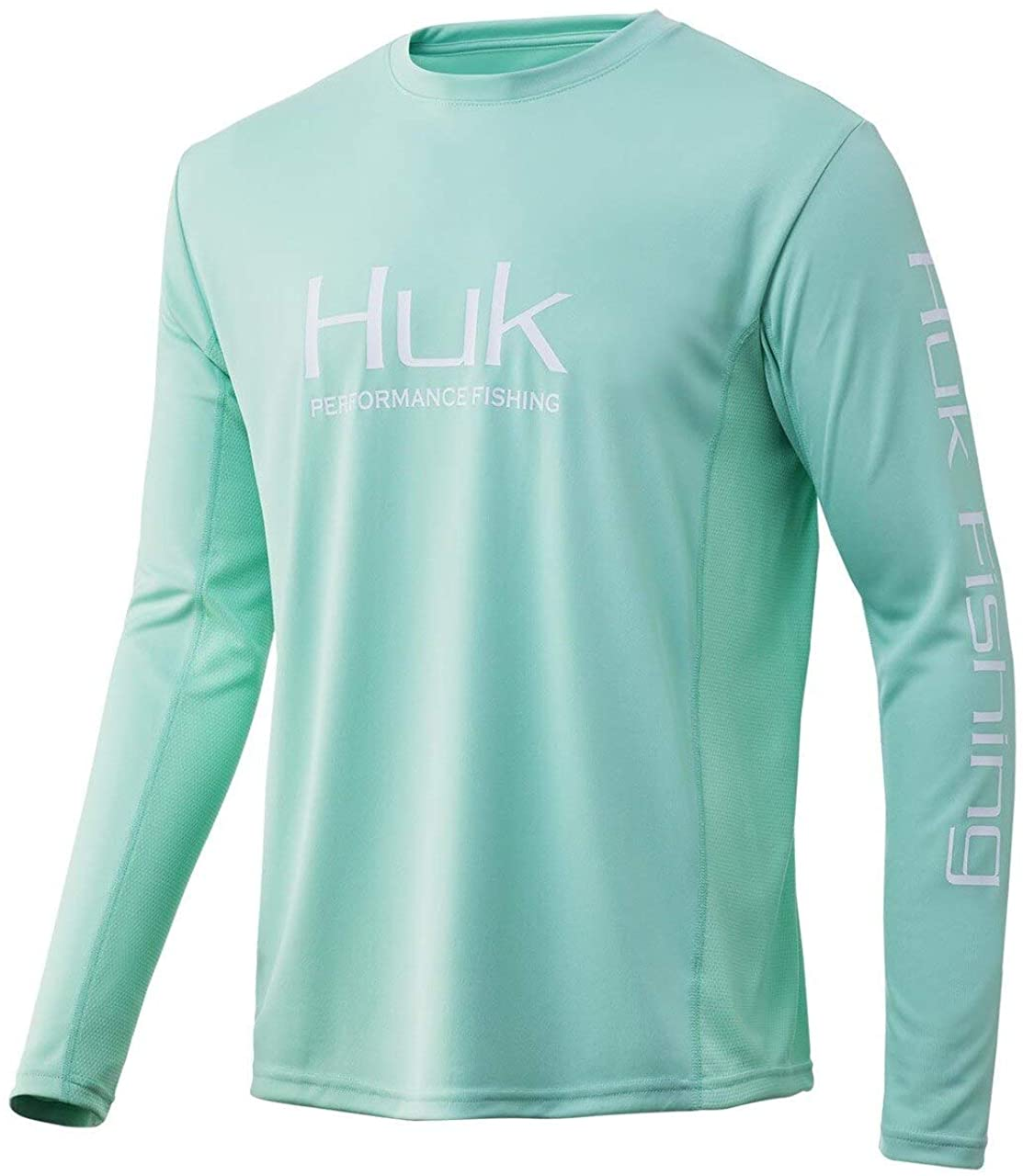 Men's Huk Icon X Long Sleeve Shirt in Lichen from the front