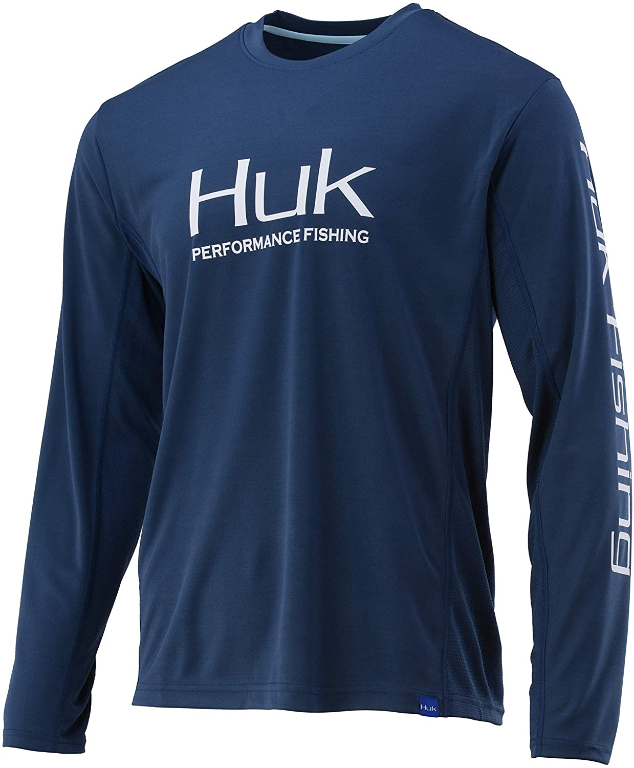 Men's Huk Icon X Long Sleeve Shirt in Sargasso Sea from the front