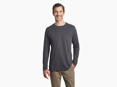 Men's Kuhl Long Sleeve Bravado Shirt In Carbon