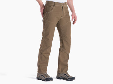 Men's Kuhl The Law Pant in Dark Khaki from the front view