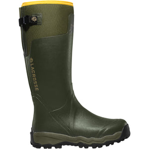 "LaCrosse Men's Alphaburly Pro 18"" Waterproof Hunting Boot in Green from the side"