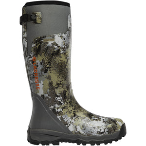 "LaCrosse Men's Alphaburly Pro 18"" Waterproof Hunting Boot in Optifade Elevated II from the side"