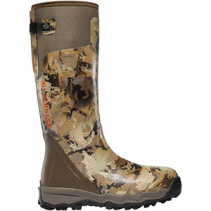 "LaCrosse Men's Alphaburly Pro 18"" Waterproof Hunting Boot in Optifade Marsh from the side"