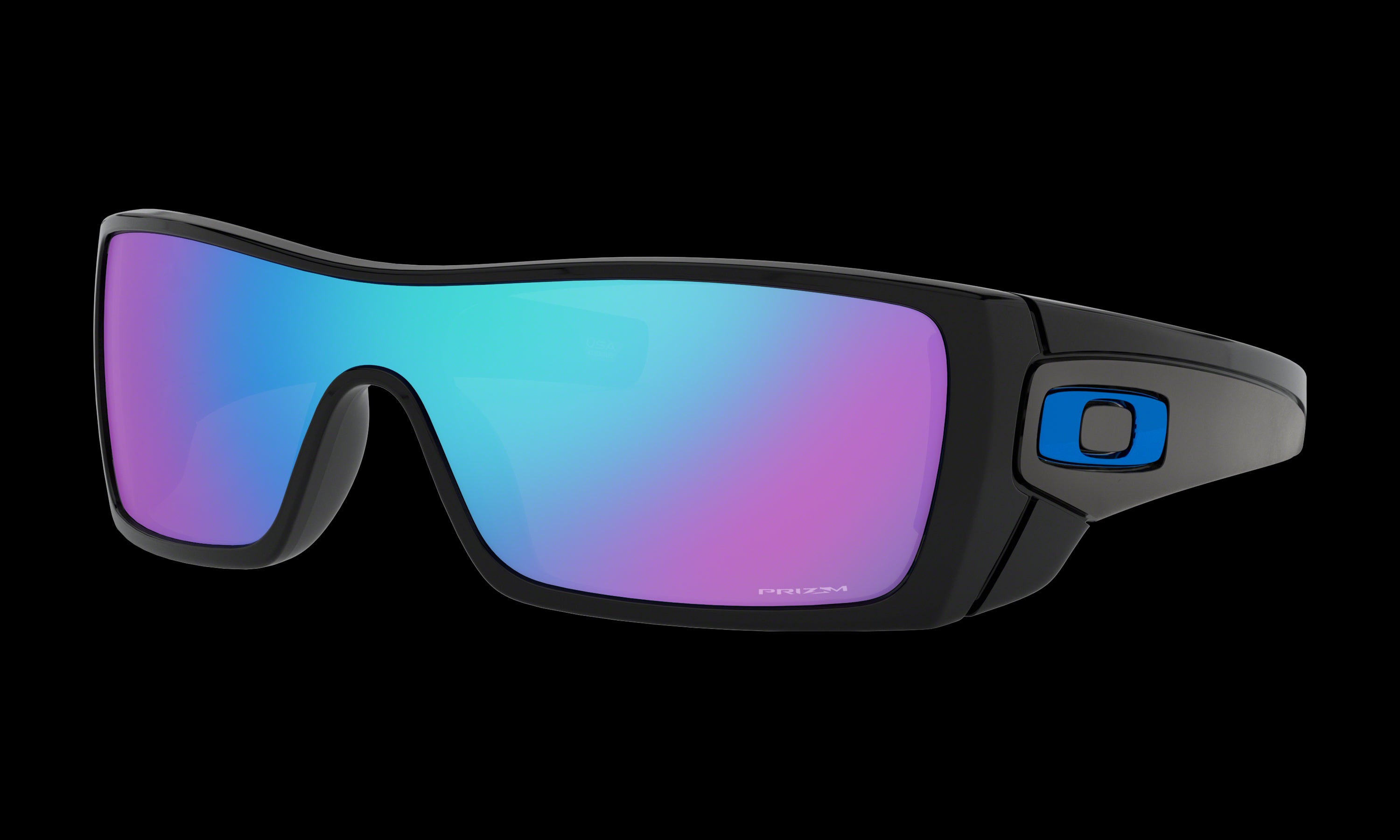 Men's Oakley Batwolf Sunglasses in Polished Black Prizm Sapphire