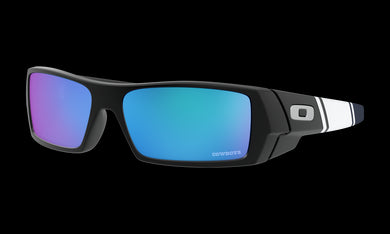 Men's Oakley Dallas Cowboys Gascan Sunglasses in Matte Black Prizm Sapphire