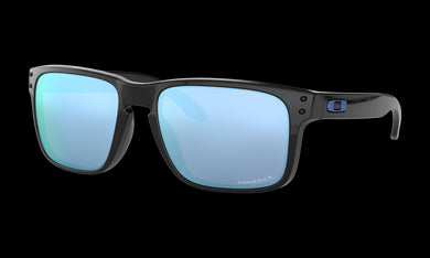 Men's Oakley Holbrook Sunglasses in Polished Black Prizm Deep Water Polarized