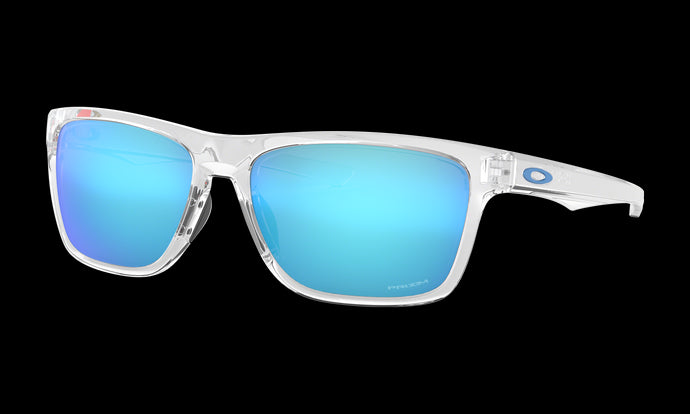 Men's Oakley Holston Sunglasses in Polished Clear Prizm Sapphire