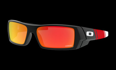 Men's Oakley Kansas City Chiefs Gascan Sunglasses in Matte Black Prizm Ruby