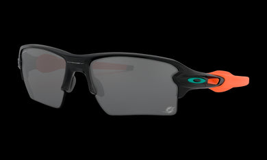 Men's Oakley Miami Dolphins Flak 2.0 XL Sunglasses in Matte Black Prizm Black