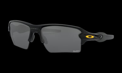 Men's Oakley Pittsburgh Steelers Flak 2.0 XL Sunglasses in Matte Black Prizm Black