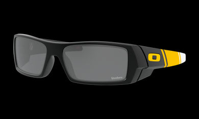 Men's Oakley Pittsburgh Steelers Gascan Sunglasses in Matte Black Prizm Black