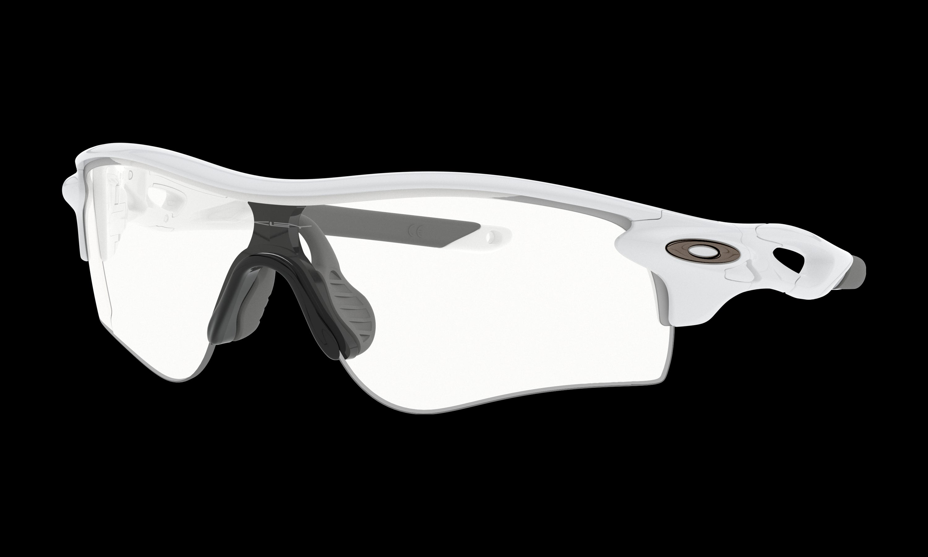 Men's Oakley Radarlock Path (Asia Fit) Sunglasses in Polished White Clear