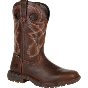 Men's Rocky Legacy 32 Waterproof Western Boot in Brown from the front