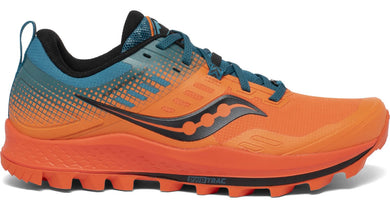 Men's Saucony Peregrine 10 ST Trail Running Shoe Orange/Blue