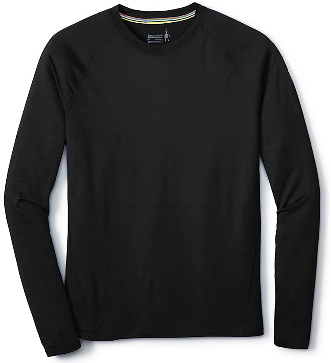 Men's Smartwool Merino 150 Base Layer Long Sleeve in Black from the side view