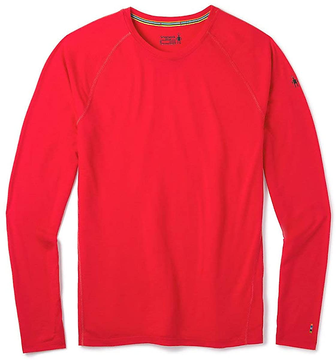 Men's Smartwool Merino 150 Base Layer Long Sleeve in Cardinal Red view from the front